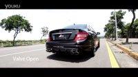 奔驰 BENZ W204 C300 改裝Fi Exhaust排气管阀门开关排气声浪!