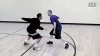 教授街球教学 背后连续运球穿当上篮