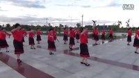 内蒙古好日沁姐妹广场舞舞蹈队北京的金山上