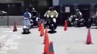 摩托车绕桩