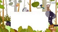 LED0014 六一儿童卡通类森林动物老虎狮子歌舞视频背景素材