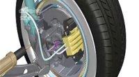 集转向.减震器.传动.刹车为一体的车轮