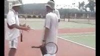 库兹涅佐娃教练史蒂芬在超达指导网球培训