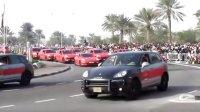 石油国不差钱-卡塔爾国庆日保时捷警车大巡游