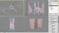 几何体组合建模-屏风04
