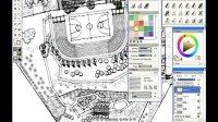 SketchUpBBS--用Sketchup结合painter制作手绘风格景观总平面
