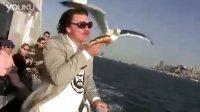 """海上的""""小偷""""来了-海鸥偷甜甜圈面包"""