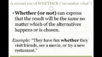 『英语常见错误』Lesson 7b - WHETHER