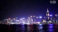 香港维多利亚港音乐夜景