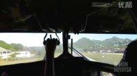 世界上最危险的机场之一  驾驶舱实拍飞机降落St. Barths机场10号跑道!