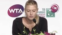 Sharapova - Interview Before the Start of YEC