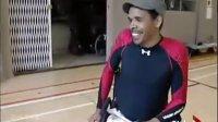 wii新玩法,在轮椅上玩 wii fit