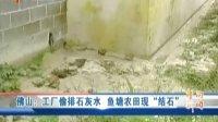 """佛山:工厂偷排石灰水 鱼塘农田现""""结石"""" 110712 广东午间新闻"""