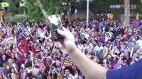 冠军庆典:巴萨游街庆祝盛况