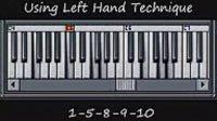 钢琴左手 1-5-8-9-10进行