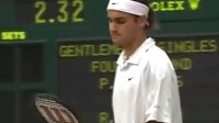 2001温网第四轮费德勒VS桑普拉斯 Federer vs Sampras (1, total22)