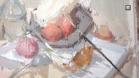 杭州名师谢融冰色彩静物教学系列  米娅果冻颜料作画   高级灰