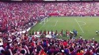 曼联VS巴萨入场仪式