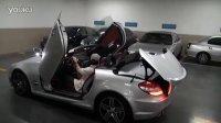 奔驰SLK55 AMG银色硬顶敞篷跑车,上海沪卓跑车租赁公司实拍