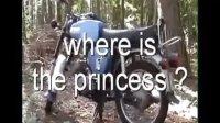sexy blonde moped princess-汽车