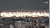 异象:雅典卫城上空一道金色阳光穿云而出,罕见!持续大约十分钟左右,好游者DV纪录