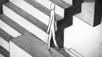 黑色哲理动画短片《行》 你是否知道自己的内心