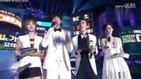 111231 MBC歌謠大戰 亞當夫婦MC介紹 CUT