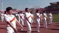 快乐舞步健身操,第二遍,第二节肩部运动。在佳木斯市体育馆彩排。
