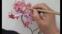 10刘晓军中国工笔花鸟画技法《临摹罂粟图》第四步正面分染(7)