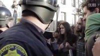 美国华尔街运动防暴警察与市民冲突