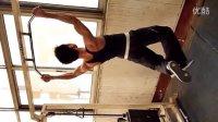 【化龙101联盟】散打上肢及背部力量练习  45个引体向上2011.1.29日下午