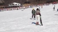 一天如何学会滑雪.!