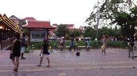 柬埔寨毽球 踢毽子 国外毽子 后撩腿