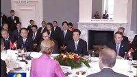 胡锦涛同丹麦首相举行会谈 120616 新闻联播