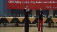 2011-3-27 米尔科北京讲学 14  摆好五角星 上身自由 头向反方向运动