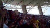 6月22日 新疆海棠队vs河北中基队  现场新疆球迷热舞