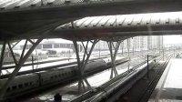 武汉火车站候车厅拍摄高铁进出站(CRH2A CRH380AB)