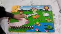 欢乐农场触摸音乐游戏毯 婴儿爬行地毯 音乐地垫 早教益智玩具