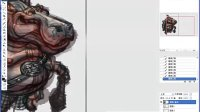 DOGAME游戏兵工厂合作专区之聚鎏陶画道工作室原画教程-河马将军