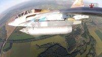 SU-25UB实弹训练 翼尖视角