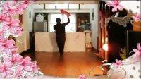 阿中中广场舞--扇巾舞.红红火火闹新年[演示和教学]