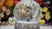 正品几米 旋转雪花水晶球八音盒音乐盒《天空之城》创意礼物
