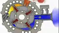 Motor Rotary Engine 2D anmiation fuel saving New