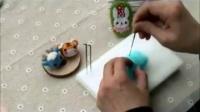 桃心和花瓣 基础 · 梧桐家羊毛毡 戳戳乐手工制作diy视频教程