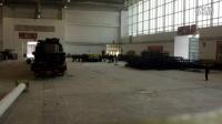 2014年北京车展日产展台搭建初期
