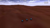复杂地形环境下多机器人编队控制方法仿真1-平缓起伏-两轮编队