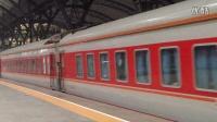 合武线K1158次(成都—上海)汉口站11号站台发车