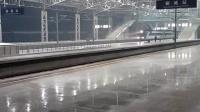 铁路汇(京九线)z65次列车雪中鸣笛快速通过聊城火车站