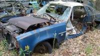 在被遗忘的垃圾场废弃的汽车