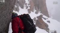 叹为观止!雪中攀爬险峻的阿尔卑斯山南针峰